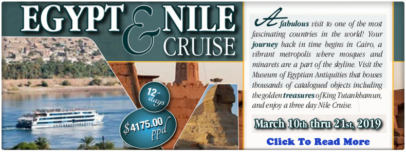Egypt & Nile Cruise!